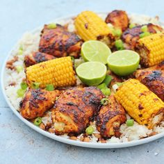 This easy version of Nando's Peri Peri Chicken can be on your table in well under an hour. Serve with my coconut lime rice and corn on the cob for a feast that looks fancy, but is actually really easy peasy – promise I won't tell! Nando's Recipes, Copycat Recipes, Dinner Recipes, Cooking Recipes, Healthy Recipes, Dinner Ideas, Meal Ideas, Healthy Food, Pepper Recipes