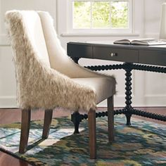 Love the shag! Grandin Road Felicity Chair