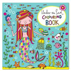 Enjoy colouring for hours and hours with this Rachel Ellen Under The Sea Colouring Book! A fab mermaid gift!