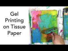 Can you use tissue paper on a gel plate? Tissue paper works great for gel printing! There's one really important (and easy) thing to do to make t. Printing On Tissue Paper, Tissue Paper Crafts, Gel Press, Cloth Paper Scissors, Gelli Plate Printing, Gelli Arts, Art Journal Techniques, Collage, Plate Art