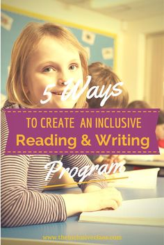 The Inclusive Class: 5 Ways to Create an Inclusive Reading and Writing Program - Help finding appropriate books through the Book Wizard. How to integrate  technology into your classroom and a collection of Graphic Organizers