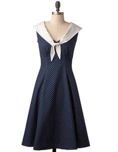 Nautical Style Bridesmaid Dress