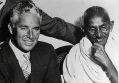 Charlie Chaplin and Gandhi. by mherodt