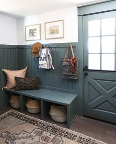 Evergreen House, Mudroom Laundry Room, Bench Mudroom, Mudroom Cabinets, Flur Design, Sweet Home, Cabana, Home Projects, New Homes