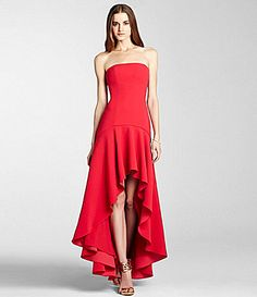 a75013c536 Royal Red beauty BCBGMAXAZRIA Evangelina HiLow Gown  Dillards What To Wear  To A Wedding