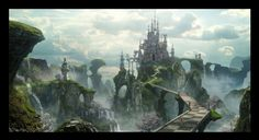 Matte Painting for Alice in Wonderland by Dylan Cole. www.dylancolestudio.com