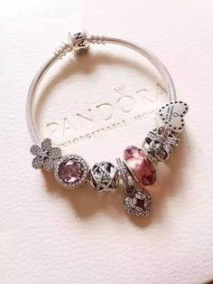 50% OFF!!! $199 Pandora Charm Bracelet Pink. Hot Sale!!! SKU: CB02082 - PANDORA…