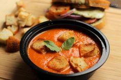 Tomato Soup and Vegetable Pesto Panini