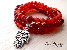 This item is unavailable Carnelian Necklace, 108 Mala Beads, Buddhist Prayer Be. This item is unavailable Carnelian Necklace, 108 Mala Beads, Buddhist Prayer Be… This item is u How To Make Tassels, Buddhist Prayer, Beads For Sale, Hamsa Necklace, Beaded Skull, Prayer Beads, Carnelian, Bracelets For Men, Yoga Mala