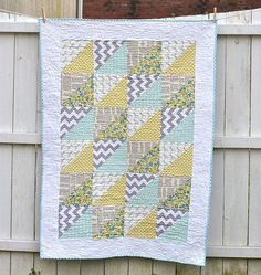 Quick Triangles Baby Quilt | FaveQuilts.com