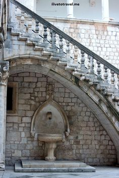 Detail of the Rector's Palace - courtyard - in Dubrovnik, #Croatia
