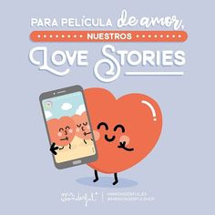 Lo nuestro sí que es de cine, amorcete. Our Love Stories, a true love movie. Our love really is like something from the movies, my sweetheart. #mrwonderfulshop #love #heart #lovestorie #quotes