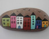 "Painted rock ""Town"""