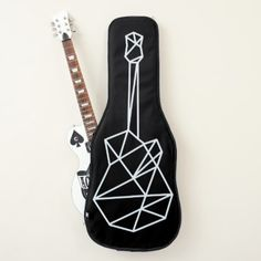 cool geometric guitar case for stylish guitarists - stylish gifts unique cool diy customize