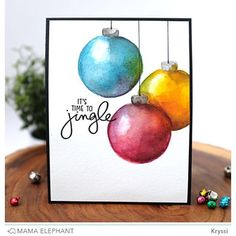 A silver Christmas decoration - HomeCNB Painted Christmas Cards, Silver Christmas Decorations, Watercolor Christmas Cards, Christmas Card Crafts, Homemade Christmas Cards, Christmas Drawing, Christmas Paintings, Watercolor Cards, Xmas Cards