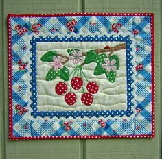 Items similar to Cherry Delight Quilt Pattern on Etsy Quilt Block Patterns, Pattern Blocks, Quilt Blocks, Machine Applique, Machine Embroidery, Panda Quilt, Cherry Delight, Fruit Stands, Sweet Cherries