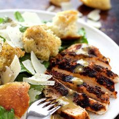 Blackened Chicken Caesar Salad Recipe | Yummly