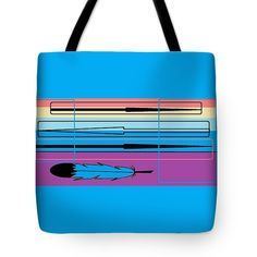 Tote Bag of 'Navajo 3' a series of designs by Sumi e Master Linda Velasquez to Honor the Navajo People.