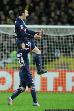 Head and shoulders above them all: Ibrahimović scored another belter #zlatan #psg
