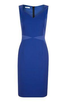 Cobalt Panelled Shift Dress