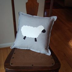 White Sheep 13  decorator pillow  Made to Order   by prettybymindy, $38.00