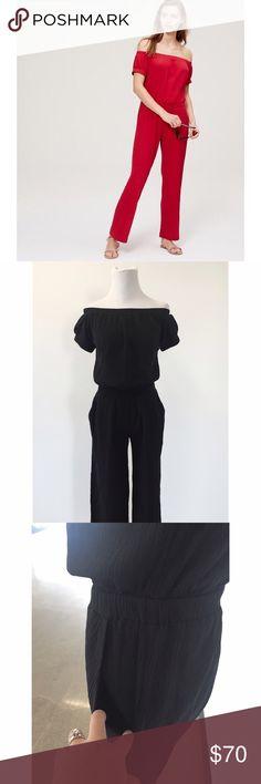 Black Off the Shoulder Romper 100% Cotton. Offers welcome! LOFT Pants Jumpsuits & Rompers