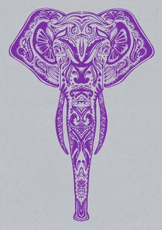 This would make a great tattoo! I would want an upturned trunk for good luck though.