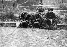 Poland, Children on a street in the ghetto. They did not survive the holocaust but faced the gas chambers