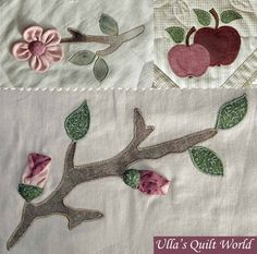 Ulla's Quilt World: Quilted tablecloth with Apples