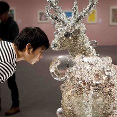 nawa kohei scultura contemporanea deer pixcell