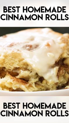 Best Cinnamon Rolls are easy to make from scratch and come out soft with gooey filling every time This cinnamon roll recipe can be baked right away or made overnight thesaltymarshmallow cinnamonrolls breakfast brunch No Yeast Cinnamon Rolls, Cinnamon Rolls From Scratch, Cinnamon Roll Cakes, Cinnamon Roll Recipes, Homemade Cinnamon Rolls, Crockpot Cinnamon Rolls, Overnight Cinnamon Rolls, Cinnamon Recipe, Pavlova
