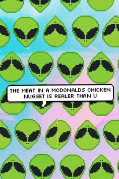 alien, McDonalds, and grunge image