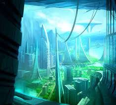 Sci Fi futuristic city