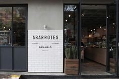 Creative Coffee, Shop, Abarrotes, Delirio, and Coolhuntermx image ideas & inspiration on Designspiration Retail Facade, Shop Facade, Retail Signage, Facade House, Exterior Tiles, Design Exterior, Facade Design, Cafe Interior, Shop Interior Design