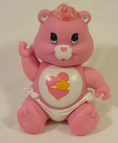 Posable 80's Kenner Care Bear Figure Baby Hugs Bear
