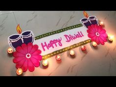 Unique HAPPY DIWALI rangoli design | Diya rangoli design | Flower rangoli | Rangoli by Sangeeta - YouTube Easy Rangoli Designs Videos, Rangoli Designs Simple Diwali, Simple Rangoli Border Designs, Happy Diwali Rangoli, Diya Rangoli, Rangoli Designs Latest, Rangoli Simple, Indian Rangoli Designs, Rangoli Designs Flower
