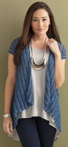 Vivienne Striped Cardigan in CELINE, LUNA, STELLA & CRYSTAL http://tahkistacycharles.com/t/pattern_single?products_id=2212