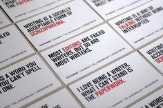 Milena Savić – Business cards for bosnian playwright Tina Šmalcelj