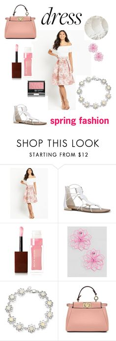 """""""spring fashion"""" by mayamaya269 ❤ liked on Polyvore featuring AX Paris, ALDO, Kevyn Aucoin, ASOS, Bling Jewelry, Fendi and Spring"""