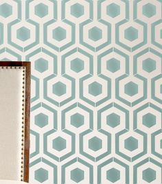 Wall Stencil Honeycomb Hexagon Modern look Geometric Pattern Wall Room Decor Made by OMG Stencils Home Improvements Color Paintings 0065 by OMGstencils on Etsy https://www.etsy.com/uk/listing/108893902/wall-stencil-honeycomb-hexagon-modern