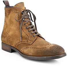 Tan Suede Boots by To Boot. Buy for $450 from Saks Fifth Avenue
