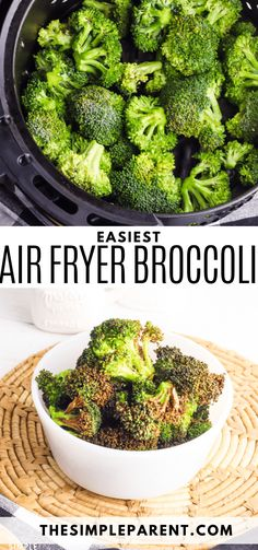 Air Fryer Broccoli is one of the easiest side dish recipes. Make it quick and enjoy crispy and savory broccoli with your next meal! Pairs great with almost any main dish! Make it in 10 minutes! Easy Vegetable Side Dishes, Side Dishes Easy, Side Dish Recipes, Dinner Side Dishes, Dinner Sides, Air Fryer Cooking Times, Cooking Recipes, Healthy Recipes, Easy Recipes