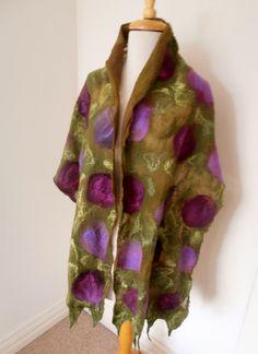 GERESERVEERDE Nuno vilten Merino Silk sjaal omslag door plumfish