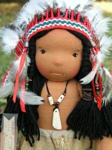 Lalka szmaciana Indianin Lalinda