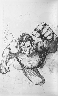 Jim+Lee+Night+Watch+2008+Sketchbook+%28Interior+P5+Superman%29.png (571×939)