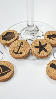 Looking for a fun way to tell your wine glasses apart? Then check out this set of wine glass charms. They're the perfect hostess gift or housewarming present for the beach lover in your life!