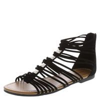Women's Nadia Gladiator Flat Sling, Black by American Eagle Gladiator Flats, Best Brand, Designer Shoes, Studs, Athletic Shoes, Footwear, Slip On, Ankle, Boots