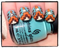 Simple Aztec Print - Click image to find more Hair & Beauty Pinterest pins