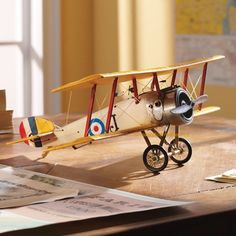 Authentic Models Sopwith Camel 15 Inch Wingspan Model Airplane Yellow for sale online Wooden Airplane, Aircraft Photos, Model Airplanes, Wood Toys, Plastic Models, Scale Models, National Geographic, Charles Lindbergh, Hobby Kits