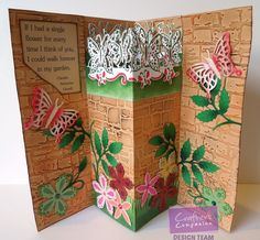 By: Jodi Clark for Crafter's Companion.  Textures Embossing Folder Collection. @CraftersCompUS